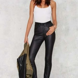 One x One Teaspoon Scallywags Coated Skinny Jeans